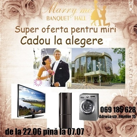 "Din nou cadouri la ""Marry Me Banquet Hall""!"