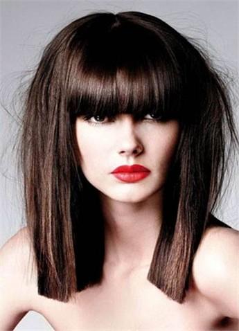 Фото прически с челкой прямые длинные волосы